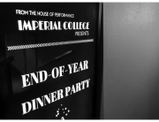 Imperial College London MBA Party Sign