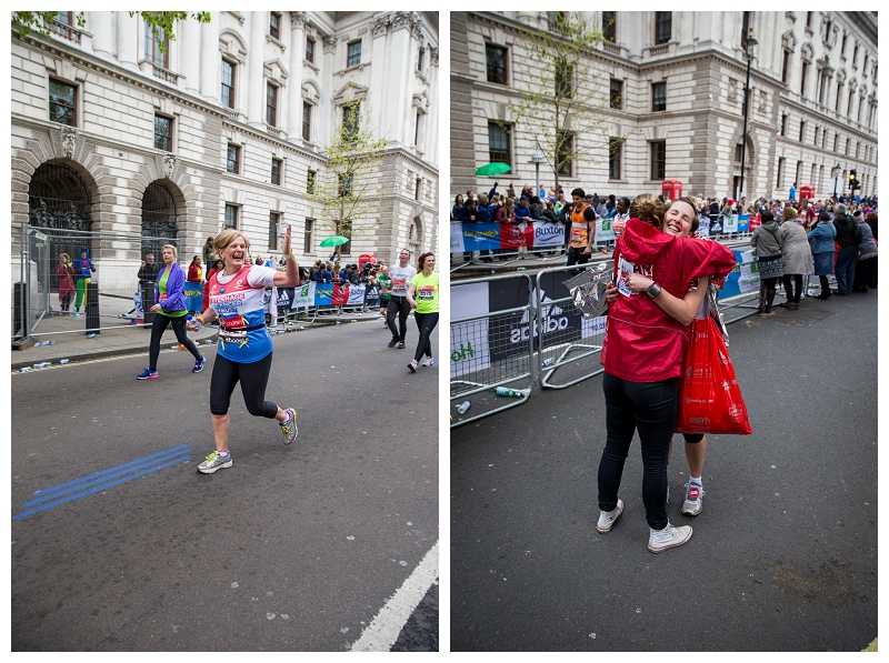 Finishing the London Marathon 2015 Photographer
